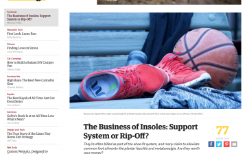 The Business of Insoles: Support System or Rip-Off? // Outside Online